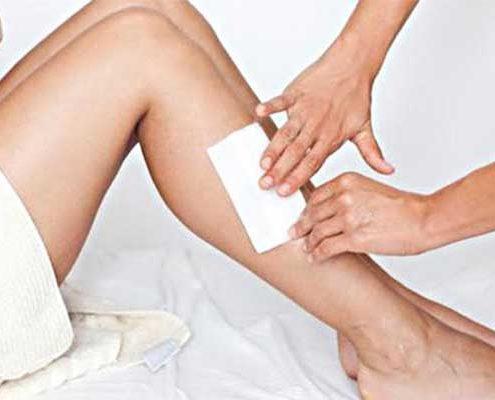 vrouwen benen waxen