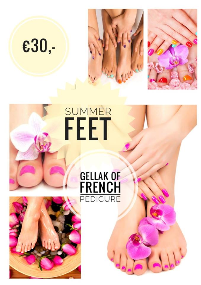 Summer feet gellak of French pedicure